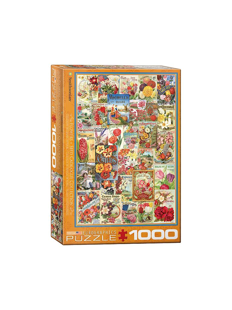 EUROGRAPHICS | Puzzle - Flower Seed Catalog Covers (1000 Teile) | bunt