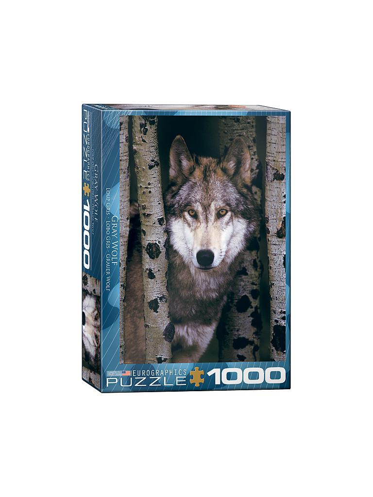 EUROGRAPHICS | Puzzle - Gray Wolf (1000 Teile) | bunt