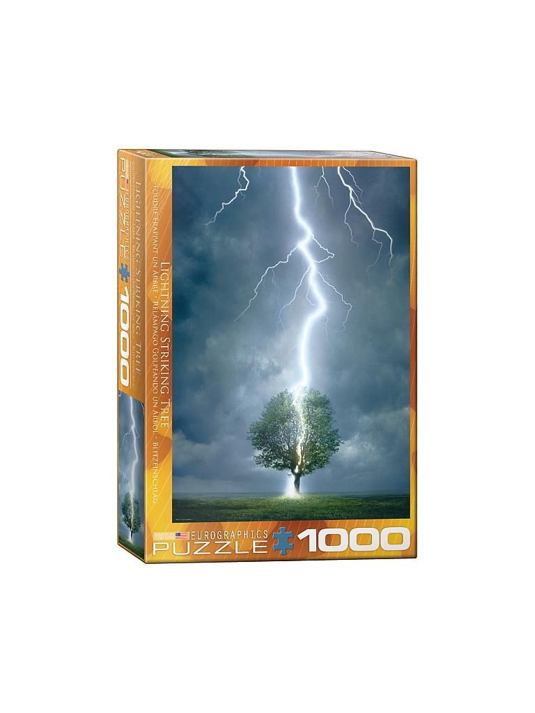 EUROGRAPHICS | Puzzle - Lighting Striking Tree (1000 Teile) | bunt