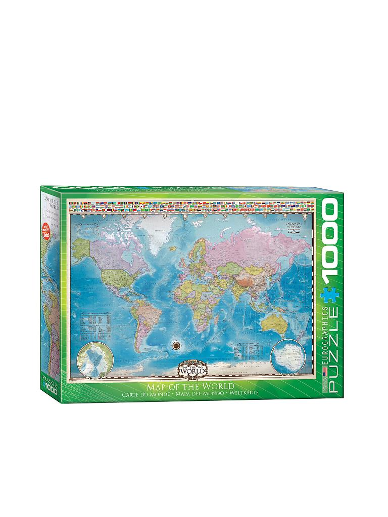 EUROGRAPHICS | Puzzle - Map of the World (1000 Teile) | bunt