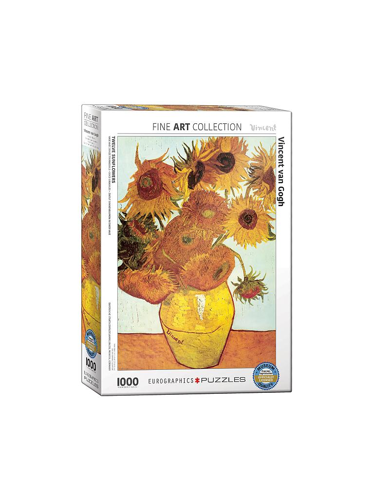 EUROGRAPHICS | Puzzle - Twelve Sunflowers by Van Gogh (1000 Teile) | bunt