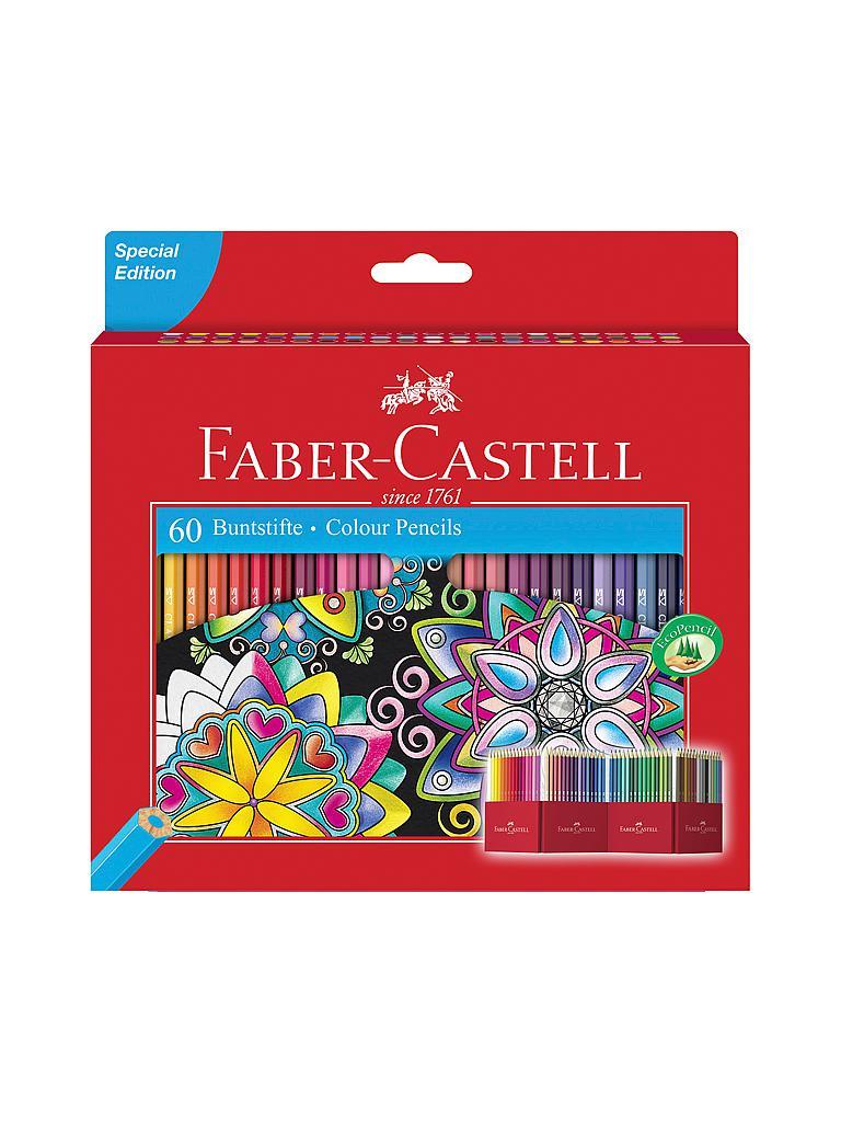faber castell buntstifte castle 60er kartonetui bunt. Black Bedroom Furniture Sets. Home Design Ideas