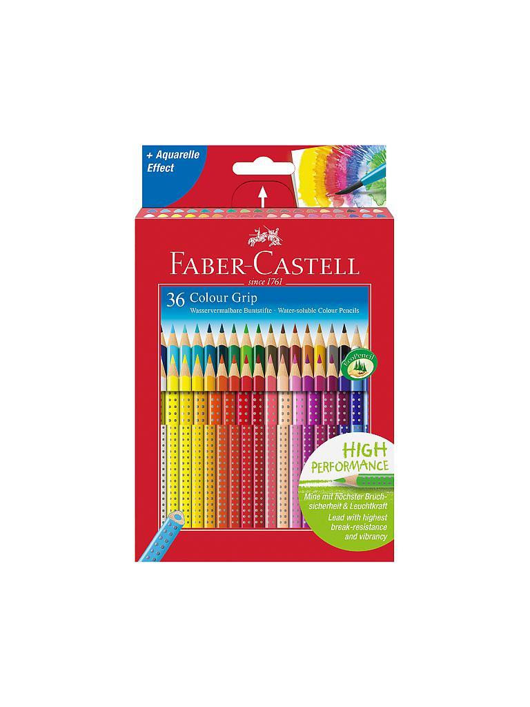 faber castell buntstifte colour grip 36er kartonetui bunt. Black Bedroom Furniture Sets. Home Design Ideas