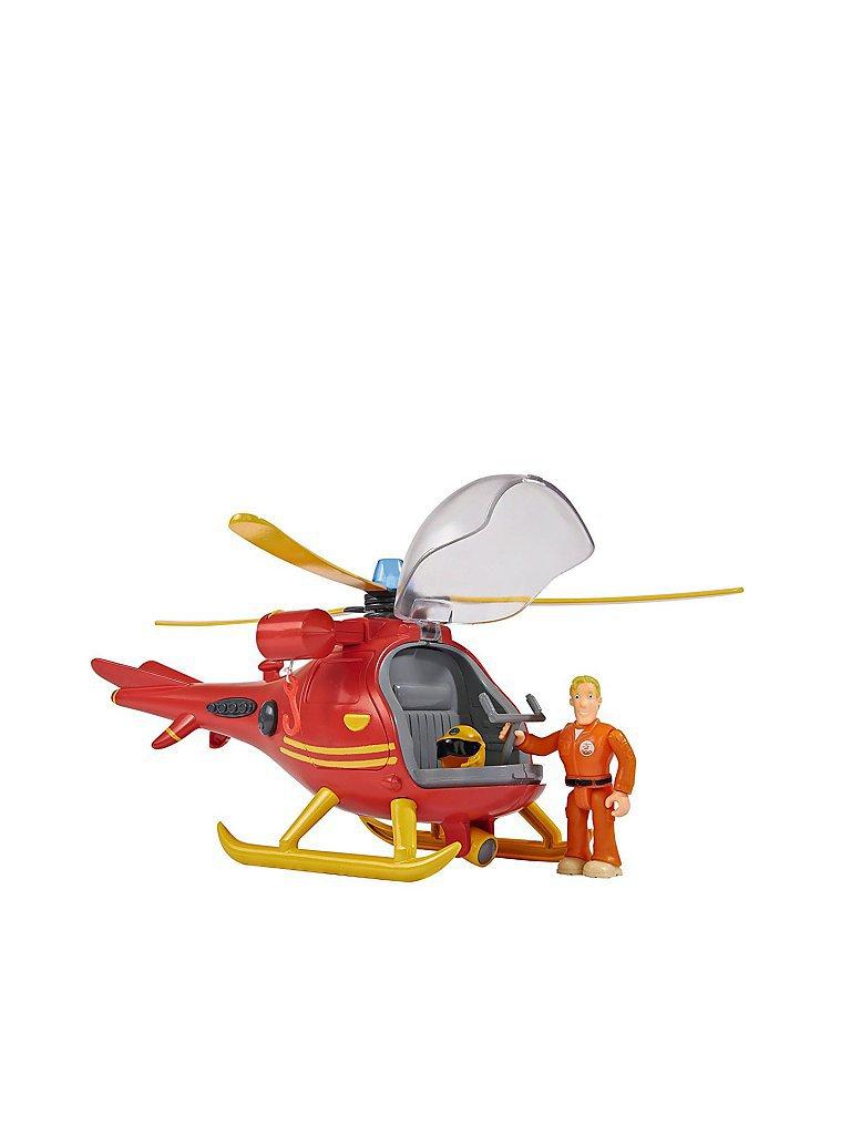 FEUERWEHRMANN SAM Feuerwehrmann Sam Hubschrauber mit Figur