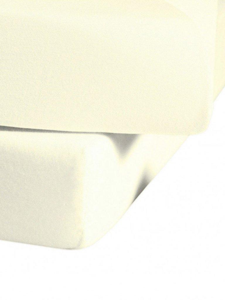 FLEURESSE Jerseyspannleintuch 180x200cm (creme) beige