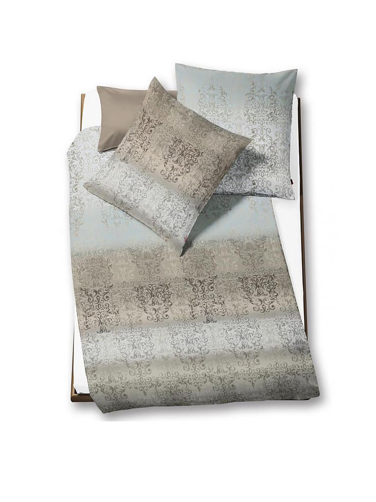fleuresse satin bettw sche modern classic 70x90 140x200cm silber grau. Black Bedroom Furniture Sets. Home Design Ideas