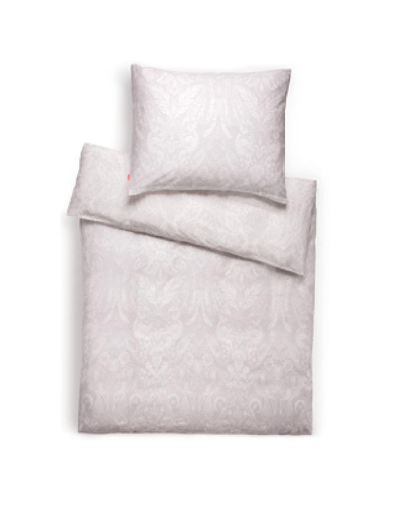 fleuresse satin bettw sche modern classic 70x90cm 140x200cm weiss silber grau. Black Bedroom Furniture Sets. Home Design Ideas