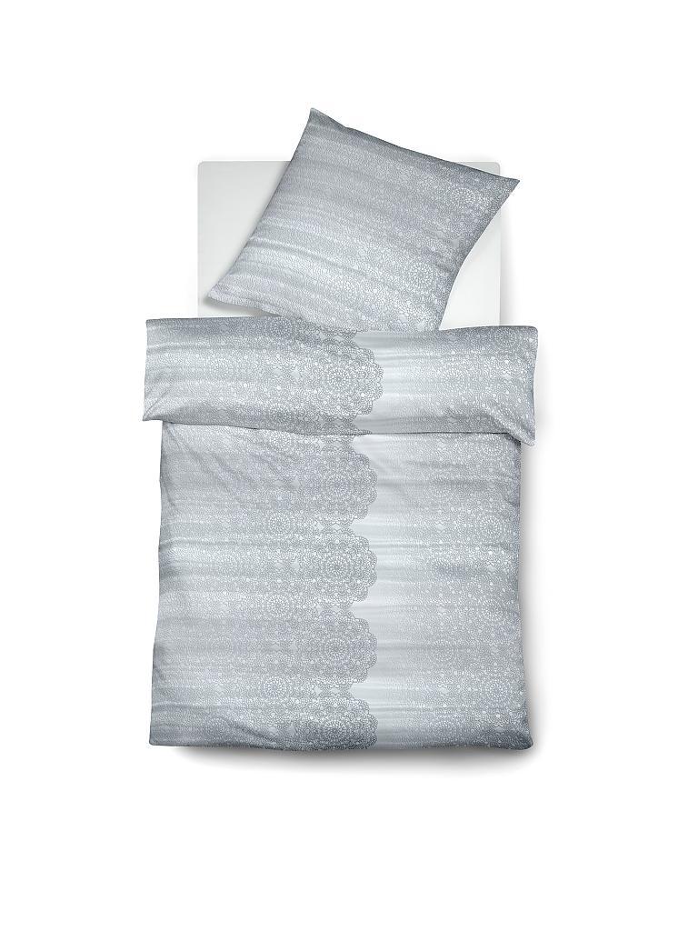 fleuresse satin bettw sche modern classic 70x90cm 140x200cm grau. Black Bedroom Furniture Sets. Home Design Ideas