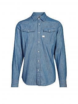 g star jeanshemd blau s. Black Bedroom Furniture Sets. Home Design Ideas