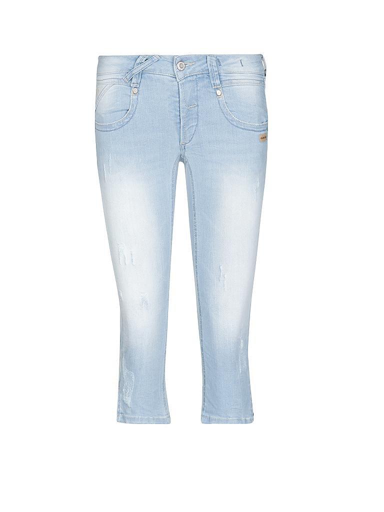 gang jeans slim fit nena 3 4 blau 25. Black Bedroom Furniture Sets. Home Design Ideas