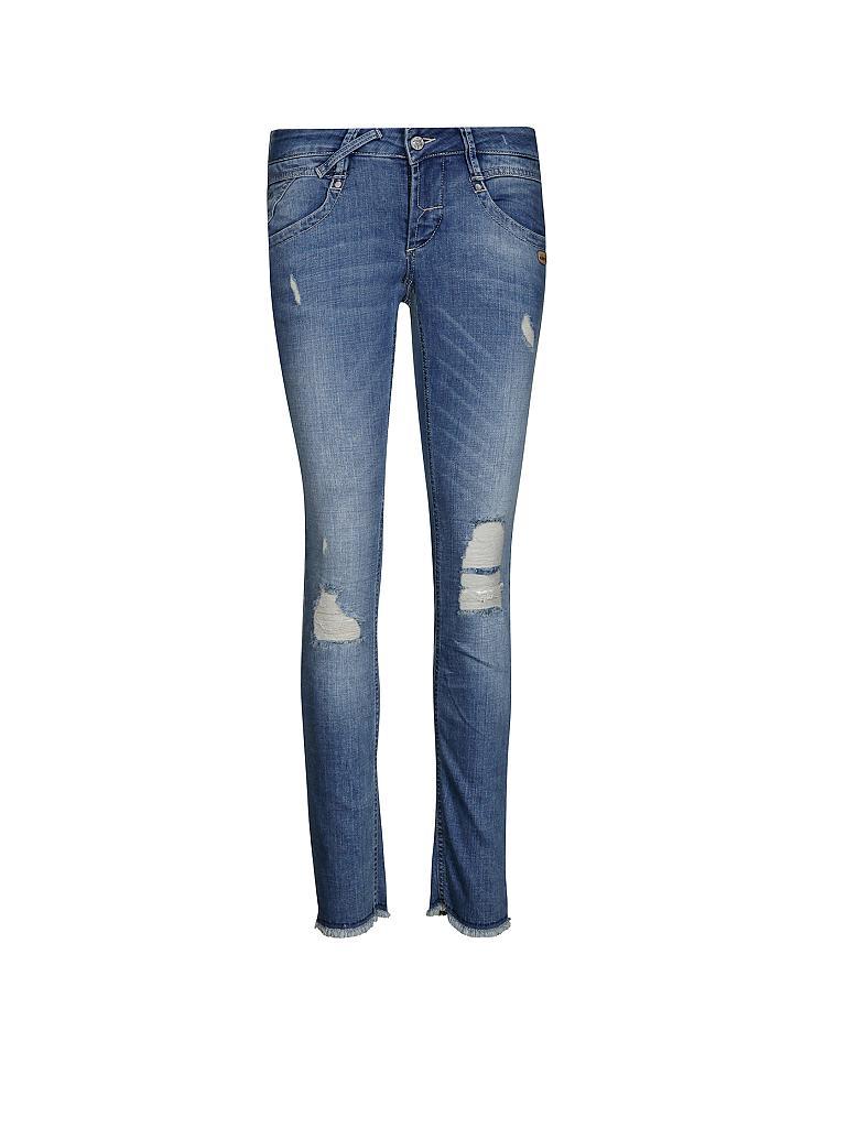gang jeans slim fit nena 7 8 blau 25. Black Bedroom Furniture Sets. Home Design Ideas