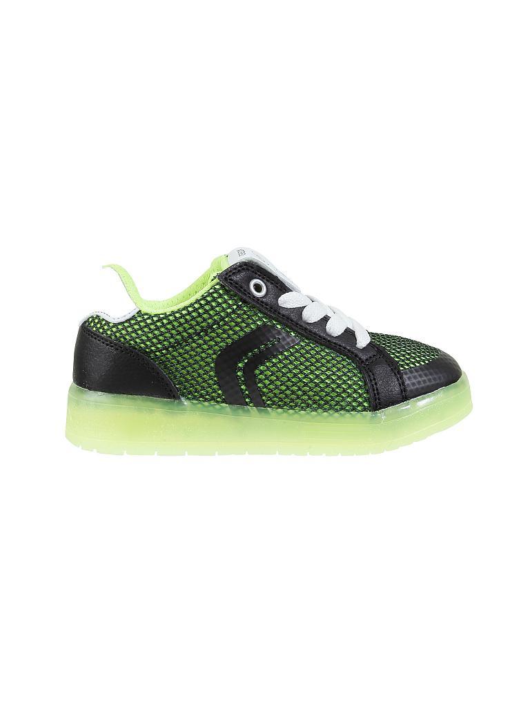 geox kinder sneaker mit led j kommodor gr n 28. Black Bedroom Furniture Sets. Home Design Ideas