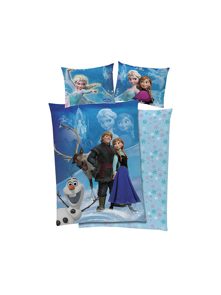 "GLOBAL LABELS | Disney Frozen - Die Eiskönigin - Wende-Bettwäsche Set ""Eiskönigin Magic"" 140x200cm 