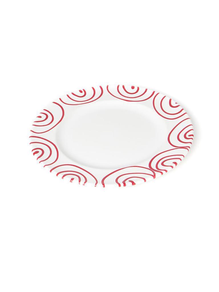 gmundner keramik dessertteller gourmet rot geflammt 22cm rot. Black Bedroom Furniture Sets. Home Design Ideas