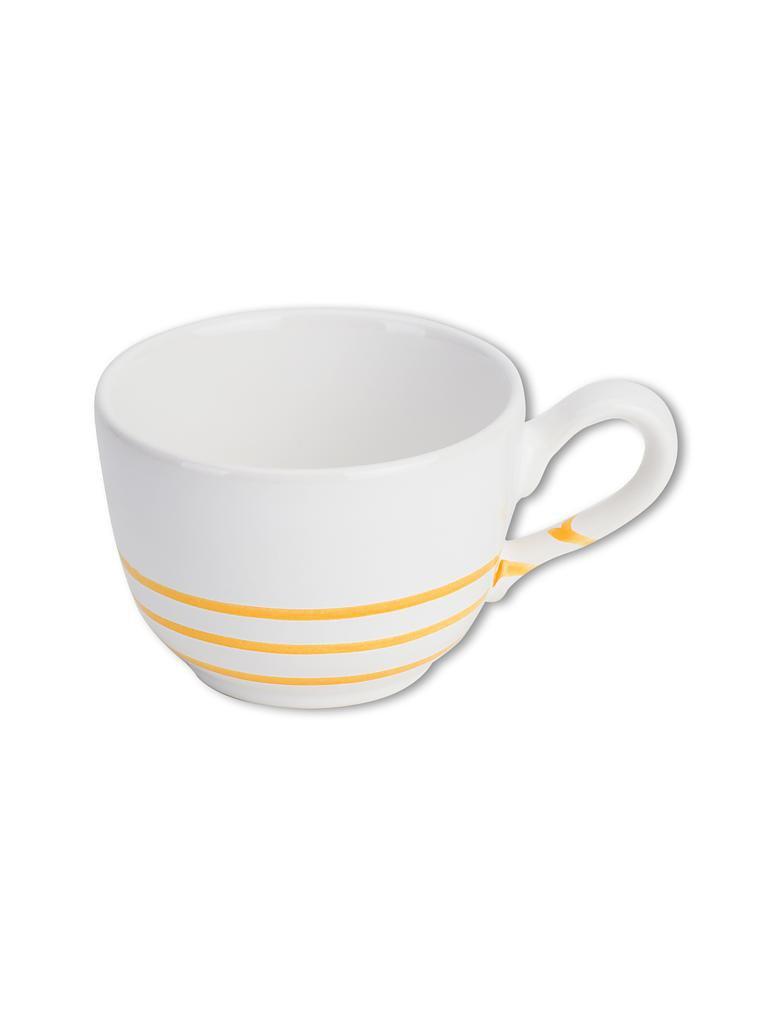 gmundner keramik kaffee tasse glatt 0 19l pur geflammt gelb gelb. Black Bedroom Furniture Sets. Home Design Ideas