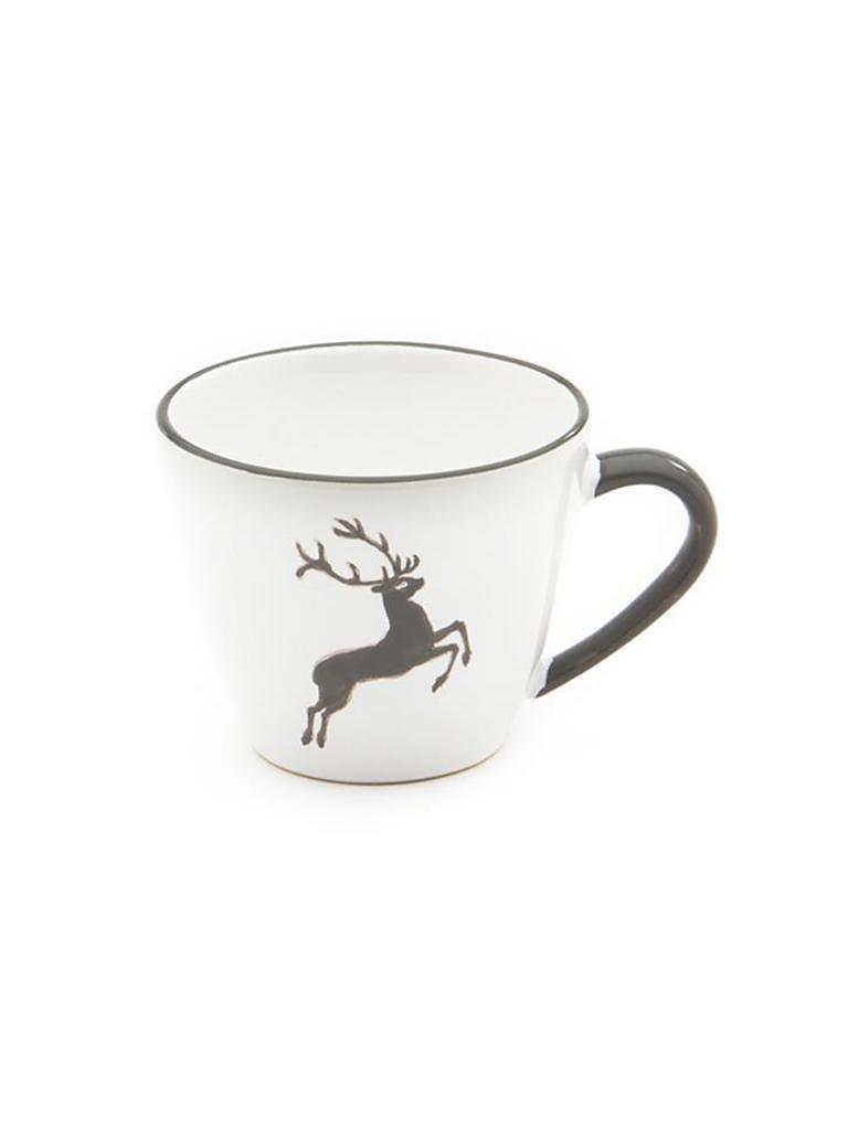 gmundner keramik kaffeetasse gourmet grauer hirsch 0 2l grau. Black Bedroom Furniture Sets. Home Design Ideas