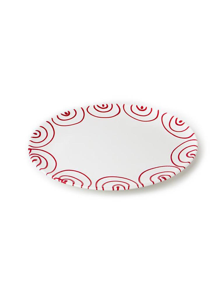 gmundner keramik platte oval rot geflammt 33x26cm rot. Black Bedroom Furniture Sets. Home Design Ideas