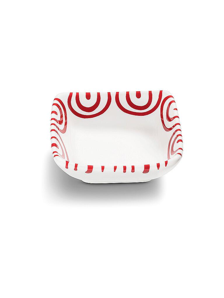 gmundner keramik sch lchen quadratisch rot geflammt 9x9cm rot. Black Bedroom Furniture Sets. Home Design Ideas