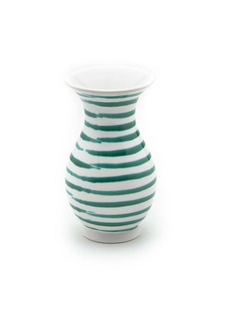 Gmundner Keramik Vase Grün Geflammt 21cm Grün