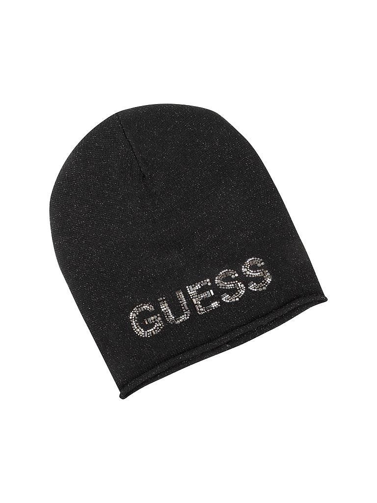guess mütze schwarz
