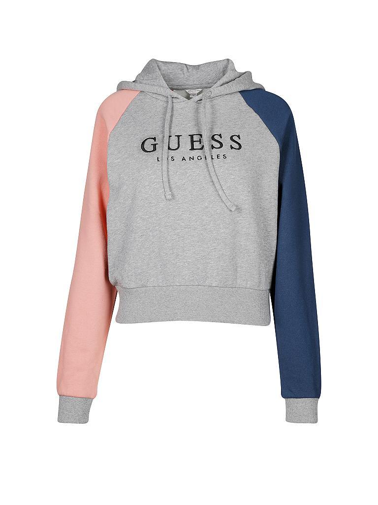 Guess Sweatshirt mit Logo Stickerei Schwarz