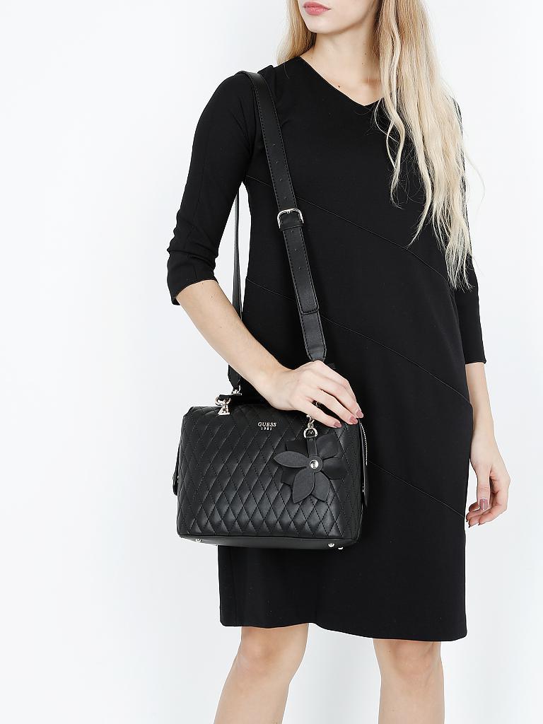guess tasche handtasche sibyl schwarz. Black Bedroom Furniture Sets. Home Design Ideas