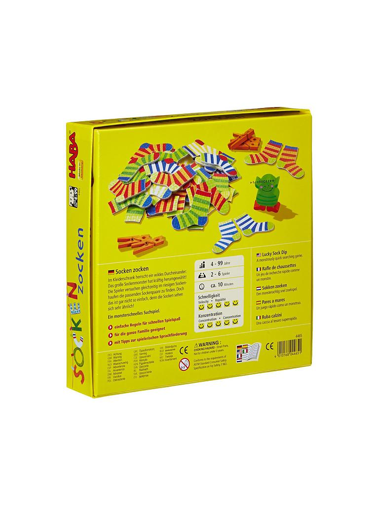 HABA | Kinderspiel - Socken Zocken | transparent