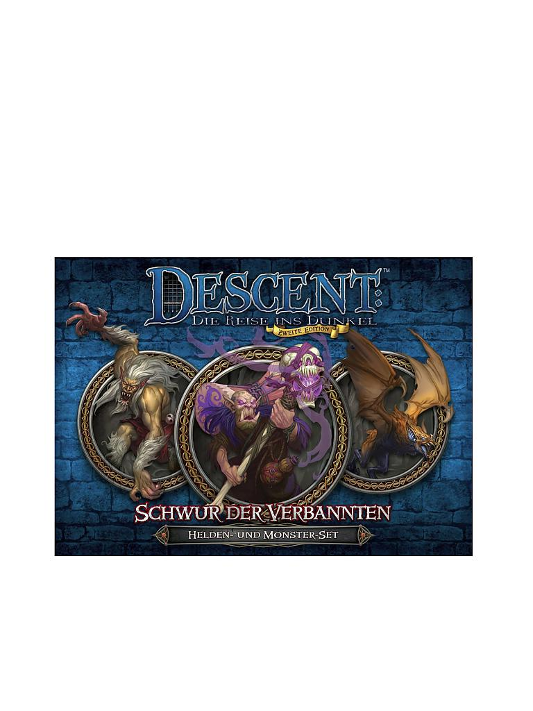 HEIDELBERGER SPIELEVERLAG | Descent 2nd Edition - Schwur der Verbannten Helden und Monster | transparent