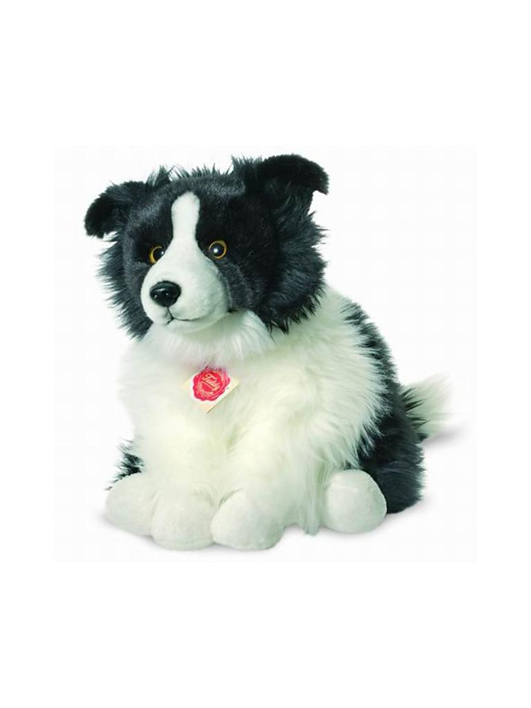 HERMANN TEDDY | Plüschtier - Border Collie sitzend 30cm | transparent