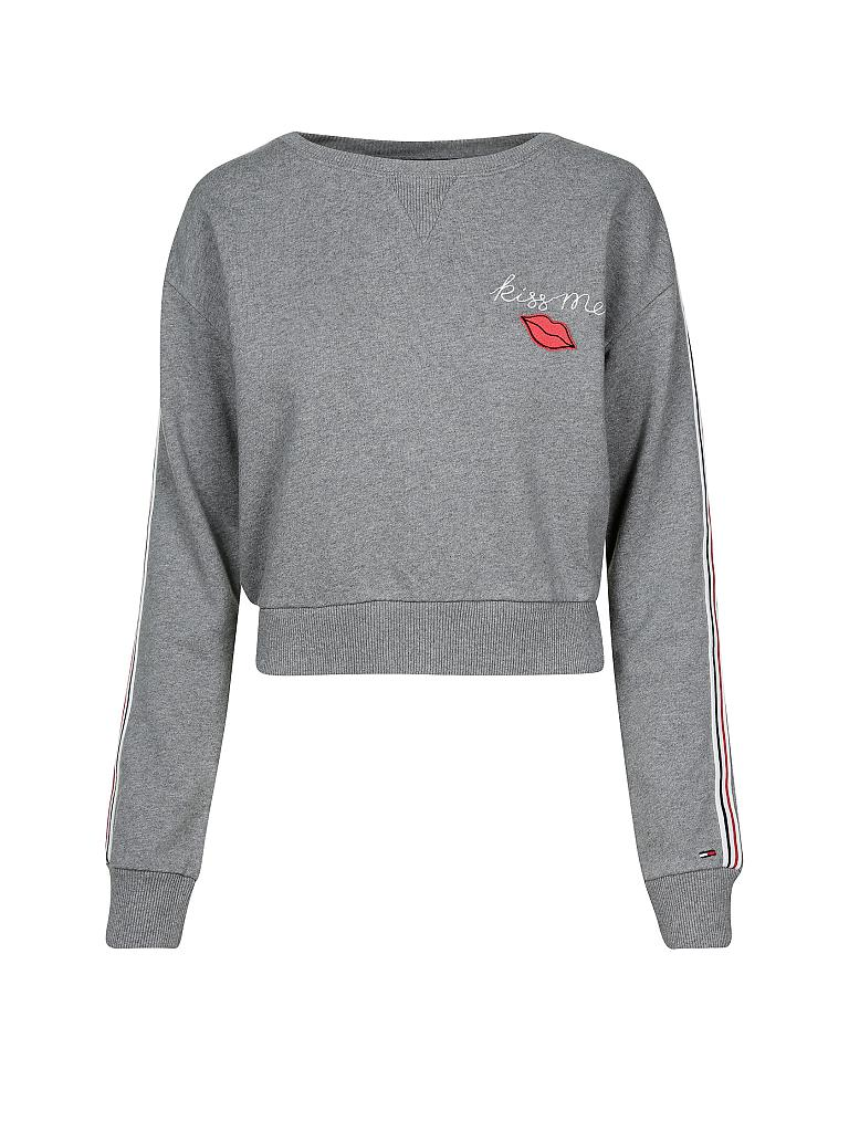 hilfiger denim sweater kiss me grau xs. Black Bedroom Furniture Sets. Home Design Ideas