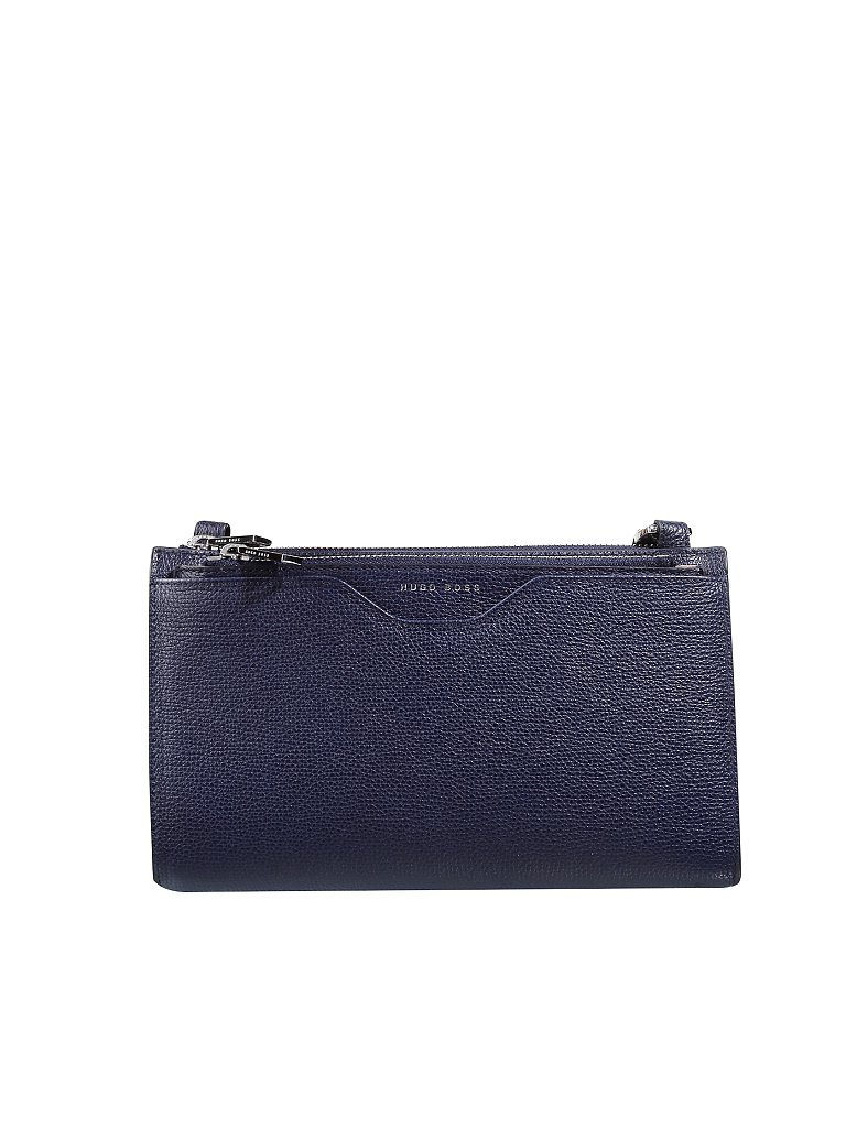 HUGO BOSS Ledertasche - Crossbody/Clutch Taylor blau