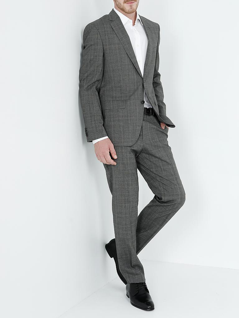 hugo boss anzug regular fit johnston lenon schwarz 50. Black Bedroom Furniture Sets. Home Design Ideas