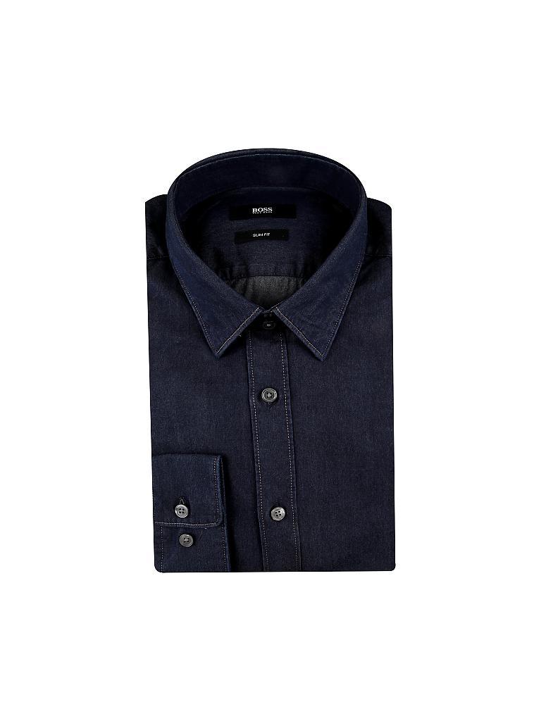 hugo boss hemd slim fit reid blau s. Black Bedroom Furniture Sets. Home Design Ideas