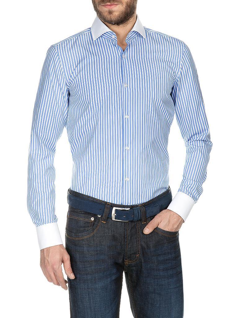 hugo boss hemd slim fit jonah blau 39. Black Bedroom Furniture Sets. Home Design Ideas