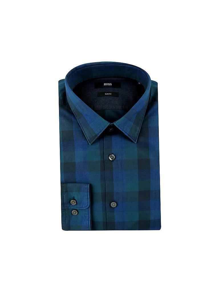 hugo boss hemd slim fit ronni blau l. Black Bedroom Furniture Sets. Home Design Ideas
