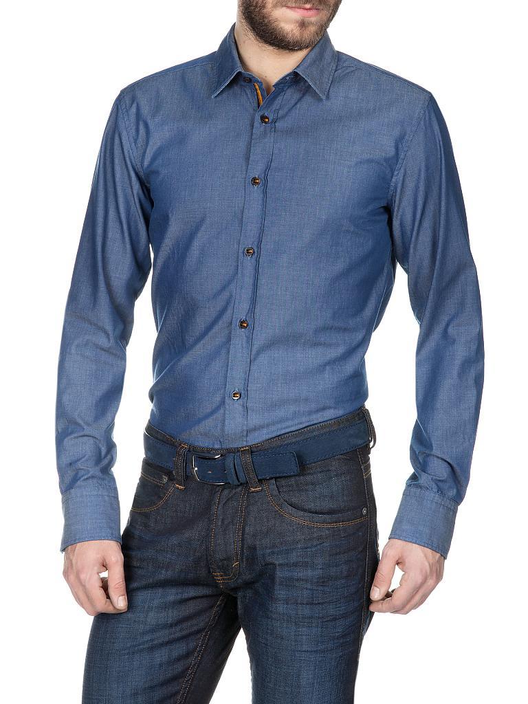hugo boss hemd slim fit ronny blau s. Black Bedroom Furniture Sets. Home Design Ideas