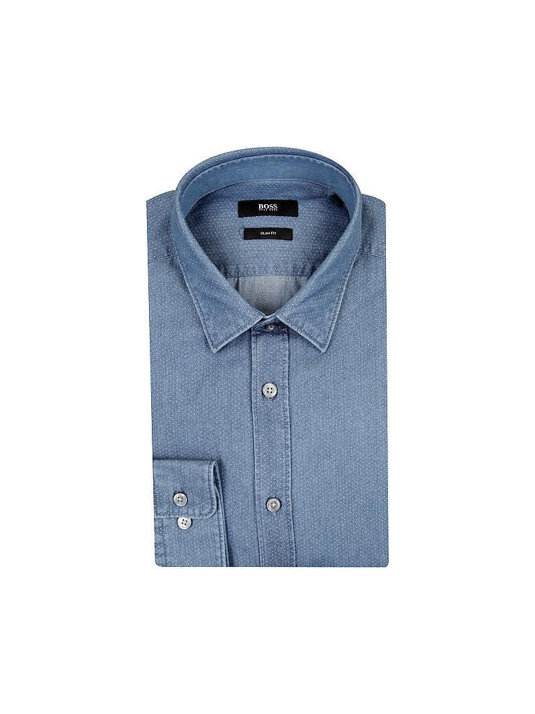 hugo boss hemd slim fit ronni blau s. Black Bedroom Furniture Sets. Home Design Ideas
