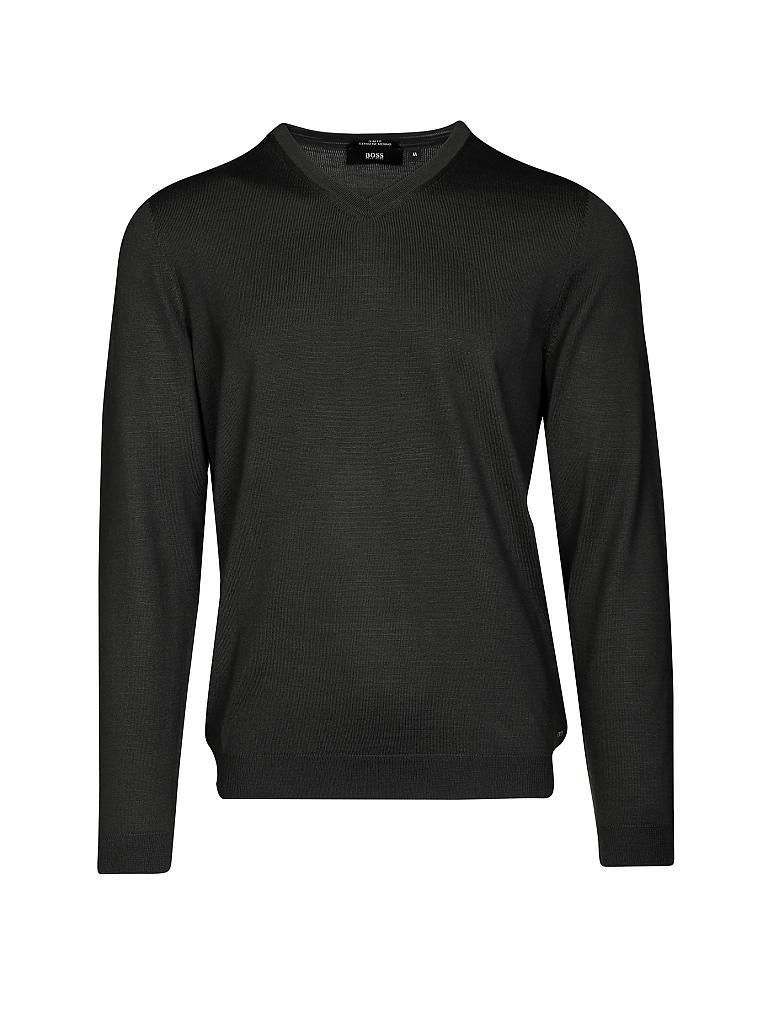hugo boss pullover slim fit baku schwarz s. Black Bedroom Furniture Sets. Home Design Ideas