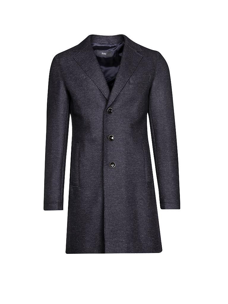 hugo boss woll mantel shawn blau 50. Black Bedroom Furniture Sets. Home Design Ideas