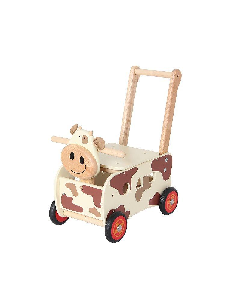 I`M TOY Schiebewagen aus Holz Kuh