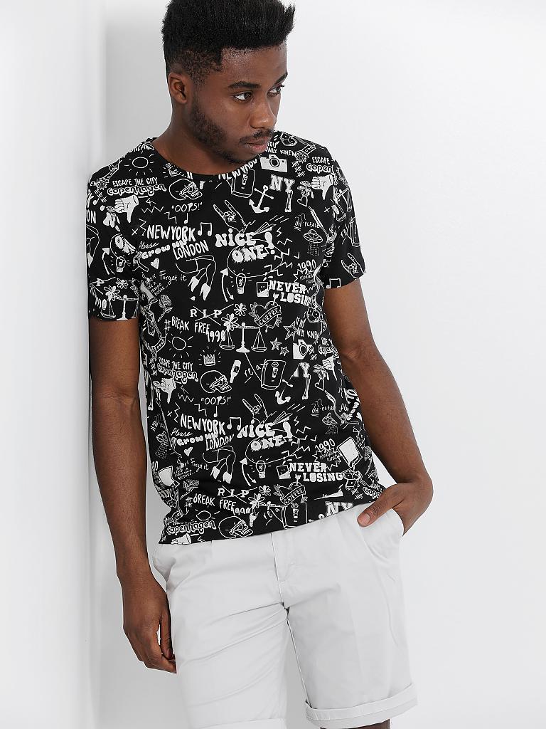 jack jones t shirt schwarz l. Black Bedroom Furniture Sets. Home Design Ideas