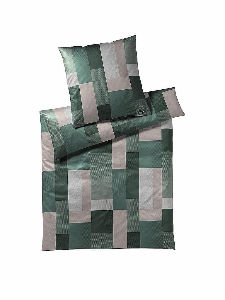 joop satin bettw sche collage 70x90cm 140x200cm gr n. Black Bedroom Furniture Sets. Home Design Ideas