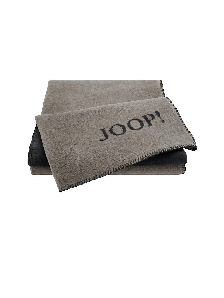 joop wohndecke doubleface 150x200cm grau. Black Bedroom Furniture Sets. Home Design Ideas