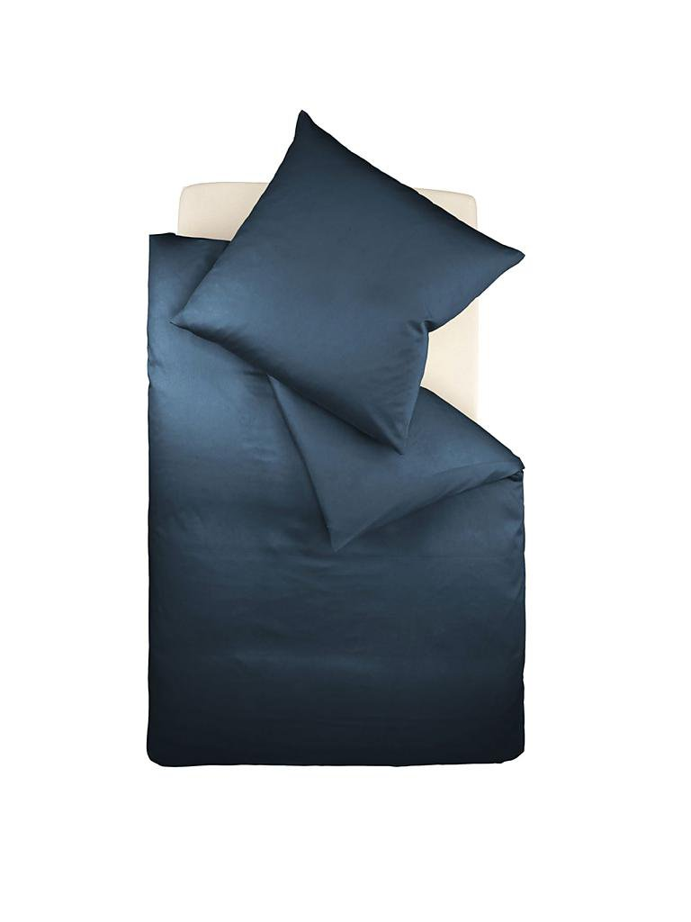 K&Ö HOME | Satin-Bettwäsche Set 140x200cm | 70x90cm (Marine) | blau