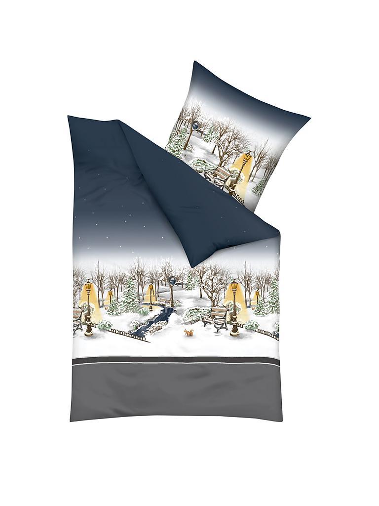 kaeppel flanell bettw sche central park 70x90cm 140x200cm grau. Black Bedroom Furniture Sets. Home Design Ideas