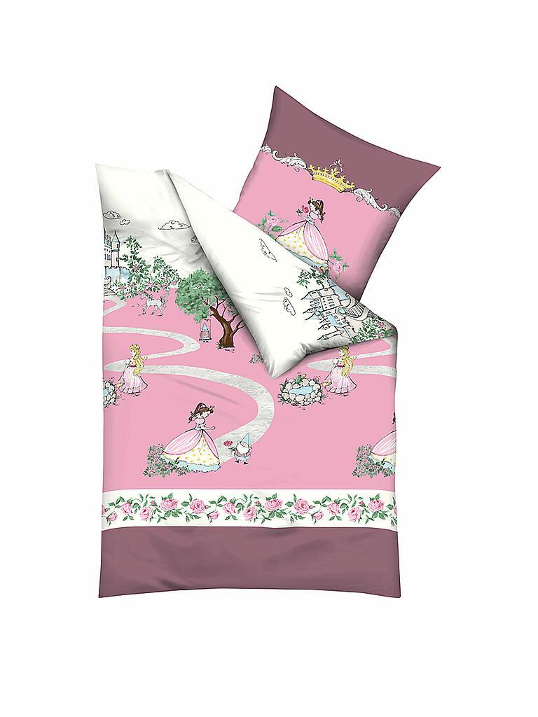kaeppel kinder flanell bettw sche es war einmal 70x90cm 140x200cm rosa. Black Bedroom Furniture Sets. Home Design Ideas