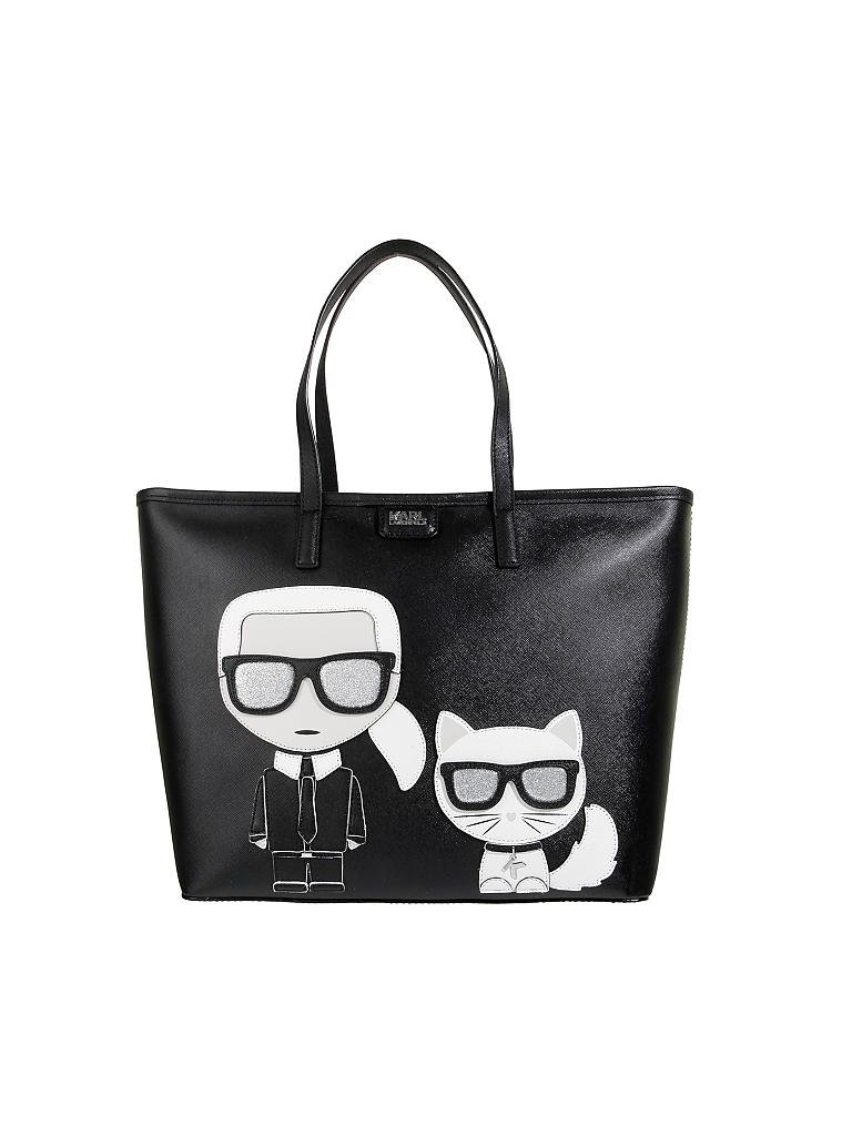 karl lagerfeld tasche shopper konik schwarz. Black Bedroom Furniture Sets. Home Design Ideas