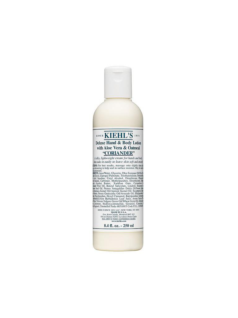 KIEHL'S | Deluxe Hand & Body Lotion with Aloe Vera & Oatmeal - Coriander 250ml | transparent