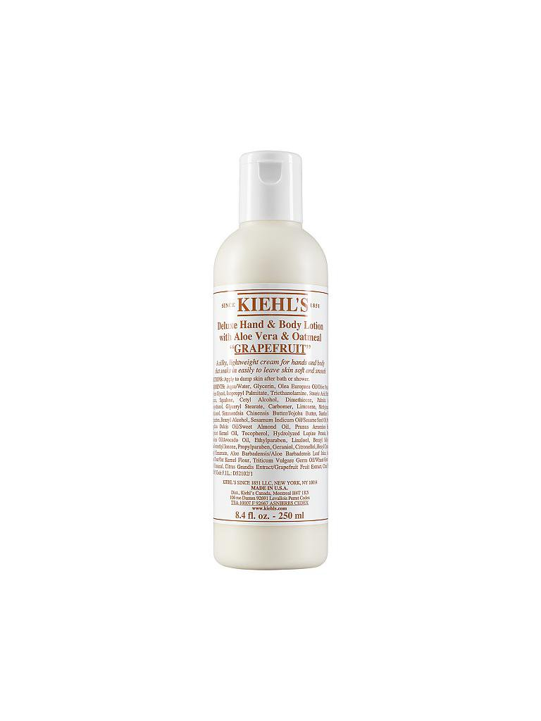 KIEHL'S | Deluxe Hand & Body Lotion with Aloe Vera & Oatmeal - Grapefruit 250ml | transparent