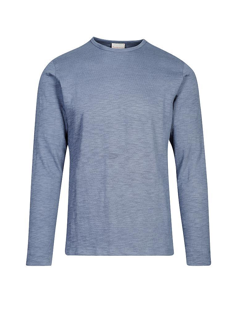 knowledge cotton apparel langarmshirt blau s. Black Bedroom Furniture Sets. Home Design Ideas